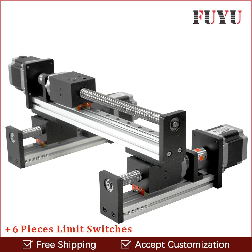 FLS40 Ball screw linear rail guide slide module table actuator for cnc XY motion robotic arm