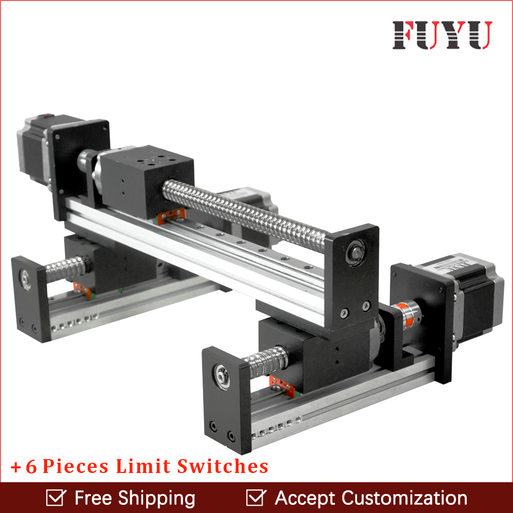 FLS40 módulo de slide tabela atuador trilho de guia linear do parafuso da Esfera para cnc motion braço robótico peças XY motorizada kits roteador