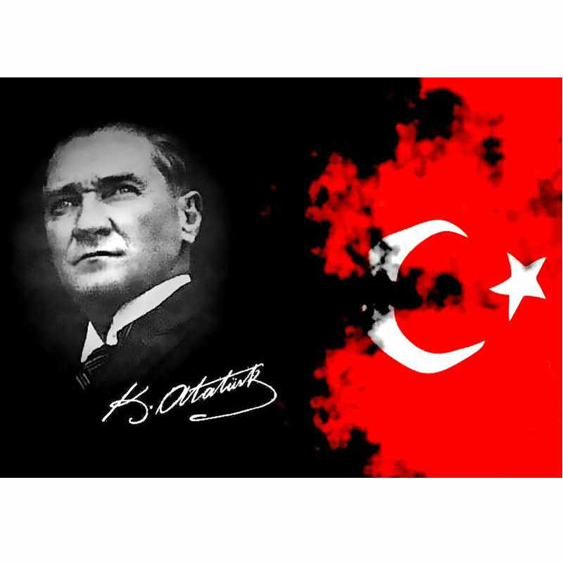 5d Diy Elmas Nakis Karakter Mustafa Kemal Ataturk Elmas Boyama