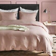 Pink Luxury button duvet cover set US King Queen Twin size 3pcs/set bedding quilt funda edredon dekbedovertrek 7colors