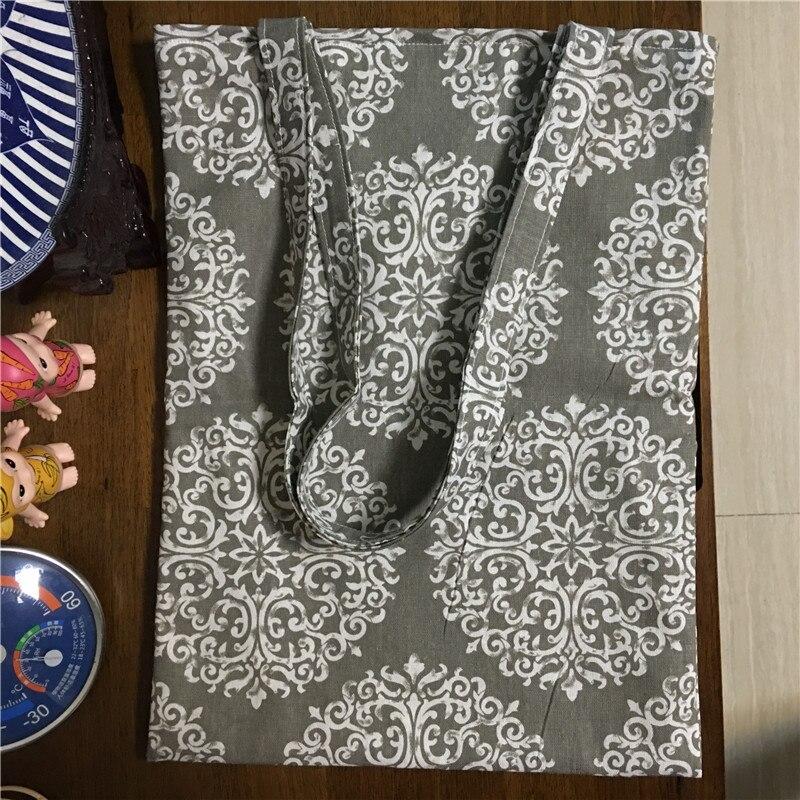 Einkaufstaschen Yile Baumwolle Leinen Eco Wiederverwendbare Tasche Einkaufstasche Druck Runde Blume Motiv 17223-c