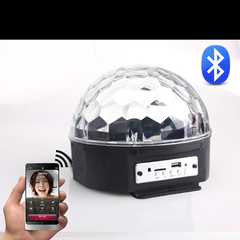Lumiparty BLUETOOTH MP3 Crystal Magic Rotating Ball Remote control 6 colors RGB disco balls lights for