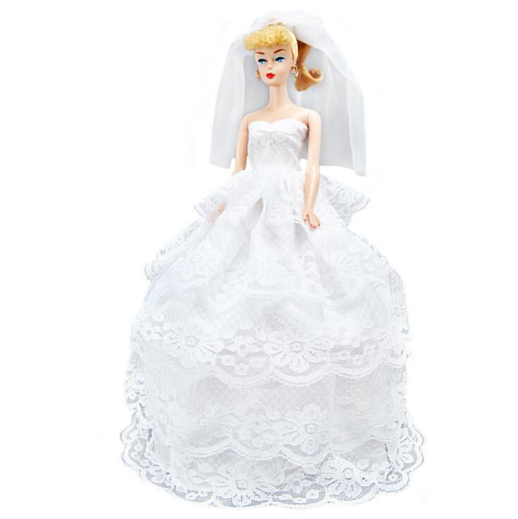 Wedding Gown Fashion Show: Multi Layers Barbie Princess Skirt Wedding Dress Barbie