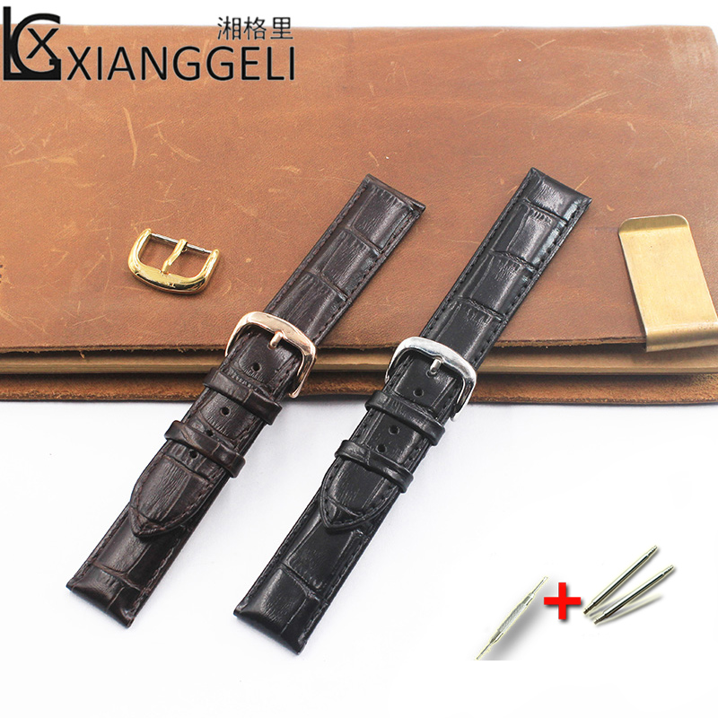 Watch accessories Leather strap 14mm19mm Tissot 1853 Brand T085 427 410A 210 407 410 Suitable for all types of men and women