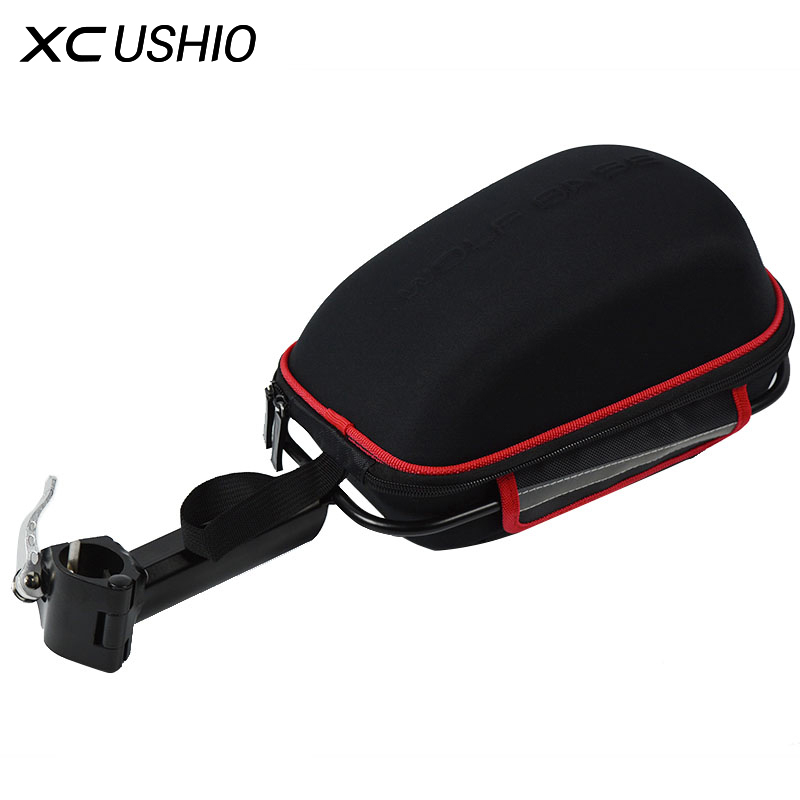 цена на Large Bicycle Rear Rack Luggage Bag MTB Bike Aluminium Alloy Frame Shell Package Quick Release Luggage Bag with Waterproof Cover