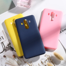 SFor Huawei P30 Lite Mate 10 Pro Nova 4 Cases For P Smart 2019 Honor 8A Play 8C V20 Candy Color Case Cover
