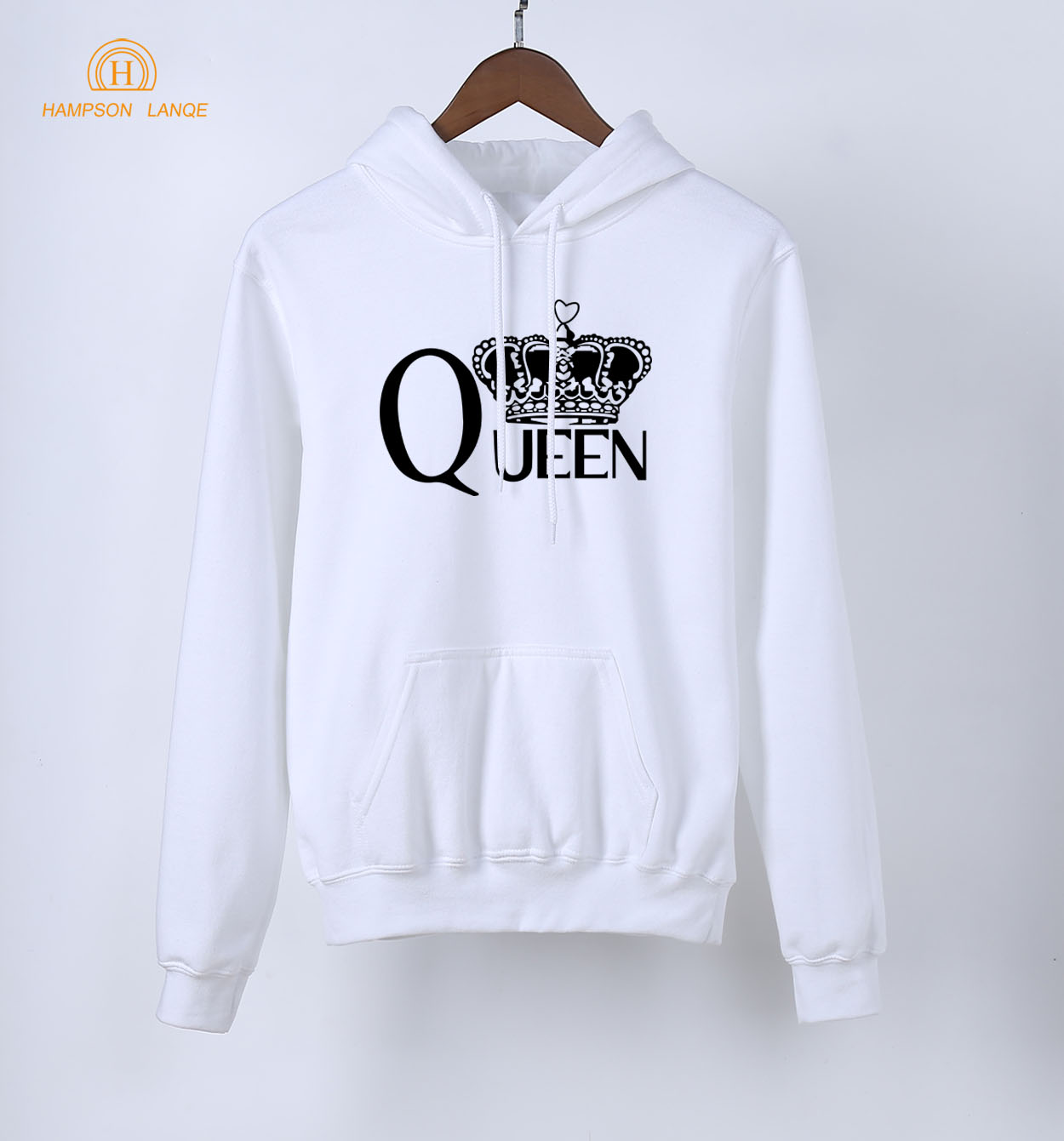 HAMPSON LANQE Queen Kawaii Women Hoodie 2018 New Spring Autumn Warm Sweatshirts Pink Cute Long Sleeve Hoodies Brand Clothing