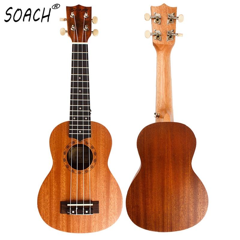 SOACH 21inch Ukulele Student Guitar Beginner Soprano Handmade Rosewood Fingerboard Mahogany Body Guitar 4 String