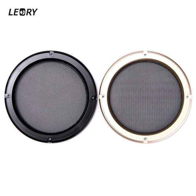 Cheap LEORY 1pc 6.5 inch Protective Cover Nets Car Speakers Power Amplifier Decorative Circle Unit Net Loudspeakers Sound Box Grille