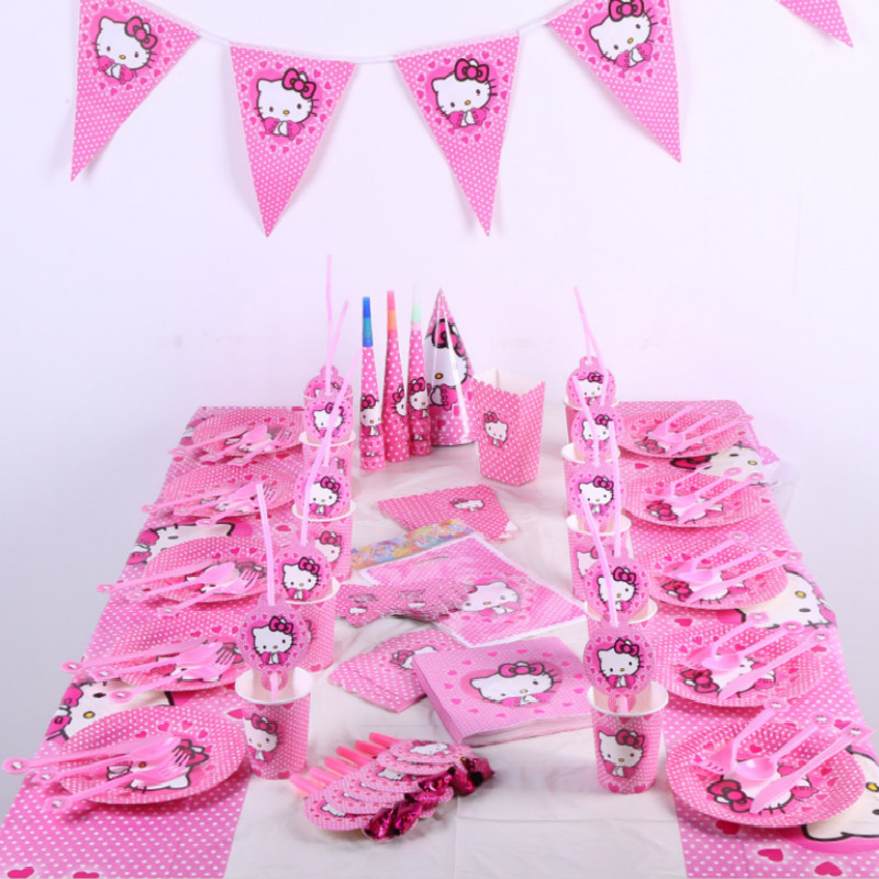 Generic Hello Kitty theme party set children birthday
