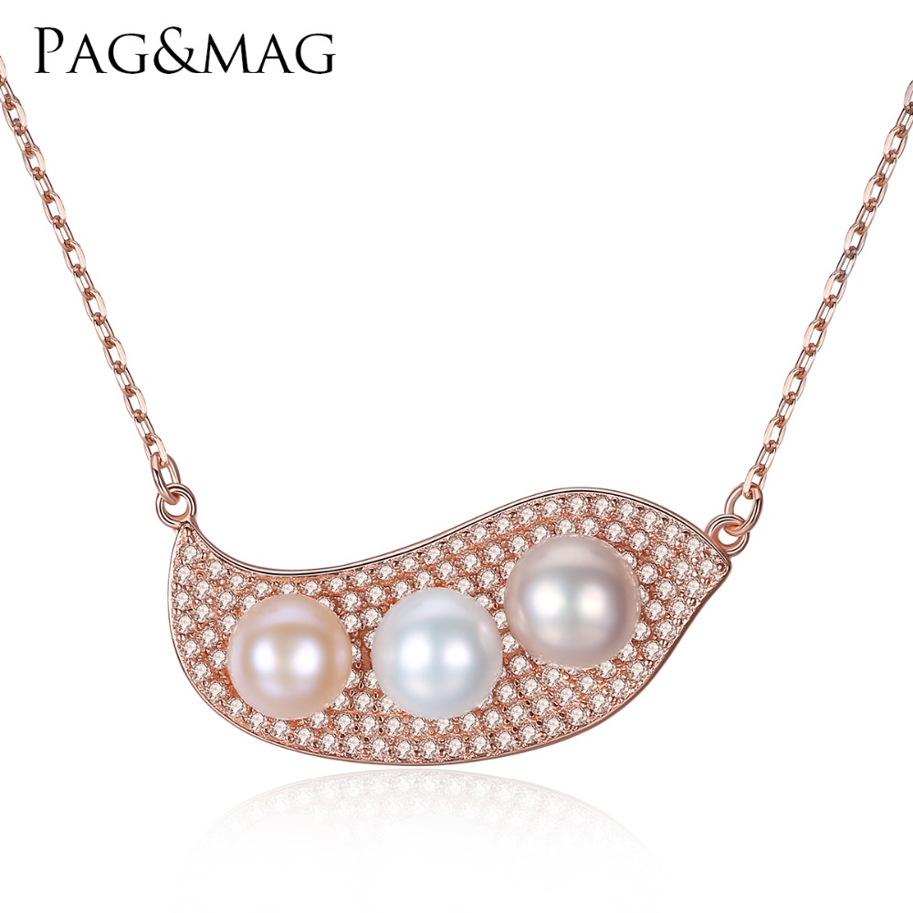 PAG&MAG White+Pink+Purple Mix Color Freshwater Pearl Jewelry S925 - Fine Jewelry - Photo 1