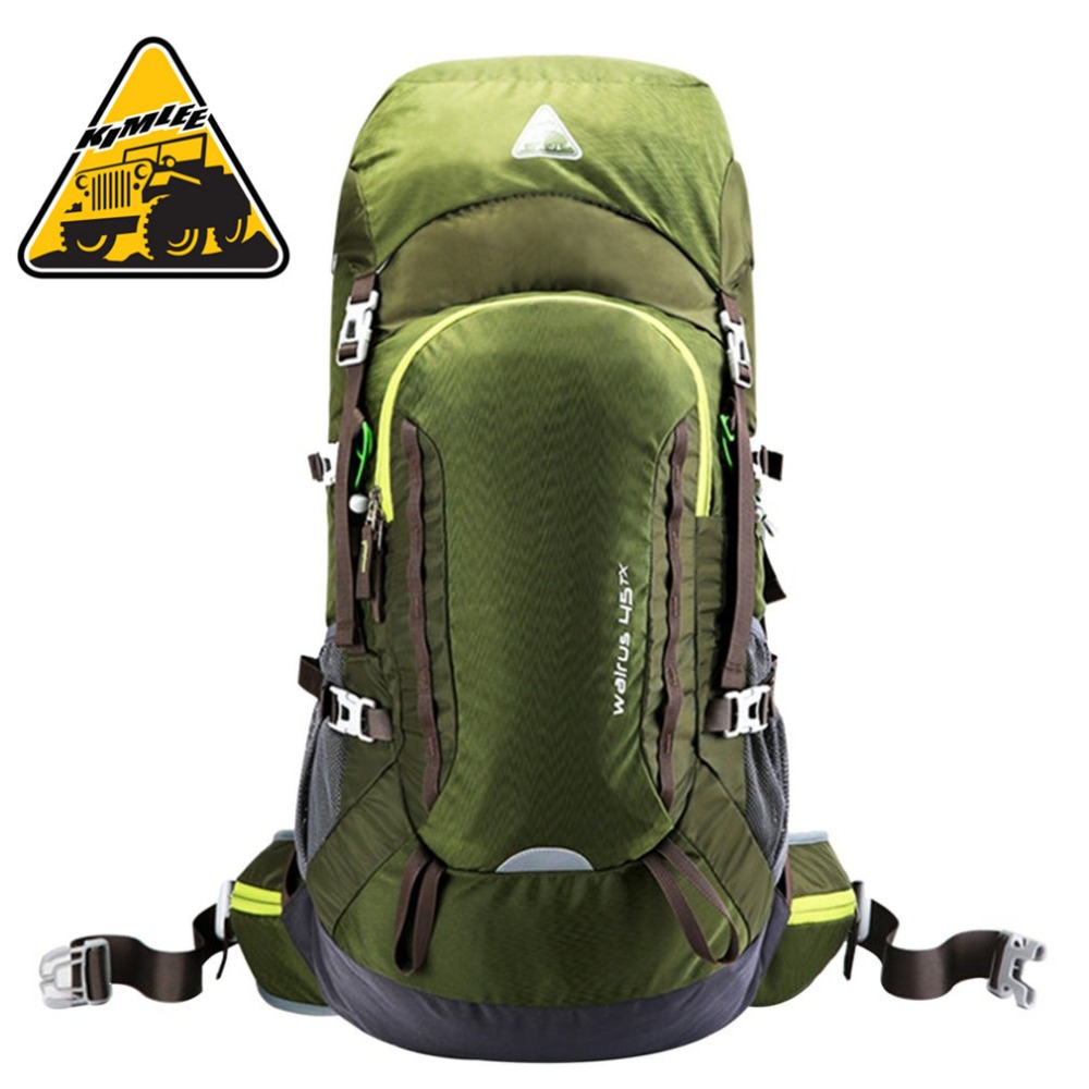KIMLEE 45L Wear Resistant Waterproof Climbing Bags Nylon Large Capacity Mountaineering Backpack for Camping Hiking KCB4115 цена