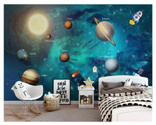 beibehang Modern hand-painted fashion personality childrens room decoration painting stereo wallpaper background papier peint