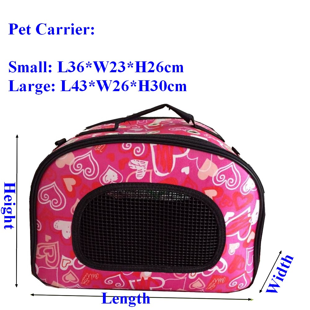 Pet Cat Dog Carrier Foldable Pet Dog Cat Small Animal Folding Dog Carrier Bag Cat Travel Carrier Breathable Portable 11634