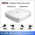 Original versão egnlish dahua poe nvr 4/8ch 1u 4poe network video recorder nvr4104-p nvr4108-p