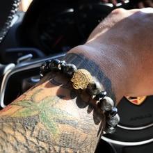 Charm Bracelet Micro Pave Zircon Harley Skull Men