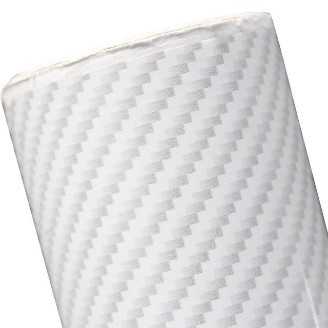 Blanco etiqueta engomada del coche de 2D textura de fibra de carbono vinilo de la etiqueta de las películas de 100*1520 MM/300*1520 MM/500*1520 MM