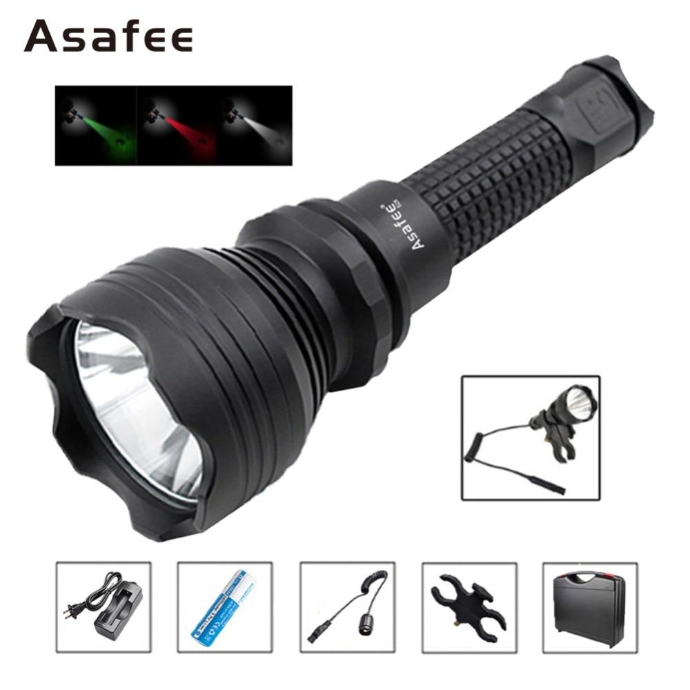 S28 lampe torche tactique Cree XM-L2 U4 LED recherche sauvetage lampe de poche avec support pistolet 18650 chargeur de batterie commutateur à distance