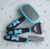 Pet grooming narzędzia grzebień dla zwierząt, prowizji Grzebień i pin brush kit3
