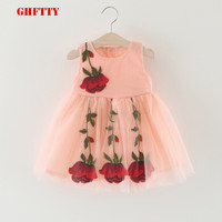 Baby Girl Fress Kids Girls Summer Dresses Bohemian Princess Style Smooth And Soft Bourette Fabric Flower
