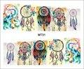 1 Hoja de Uñas MT31 Atrapasueños Color de La Cubierta Completa de Uñas POP arte de la Etiqueta engomada Para El Arte Del Clavo de Transferencia de Agua Del Tatuaje Del Clavo de DIY herramienta