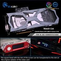 Bykski Full Coverage GPU Water Block For VGA Colorful iGame GTX 1080 Ti Vulcan X OC Graphics Card FR N IG1080TIVXOC
