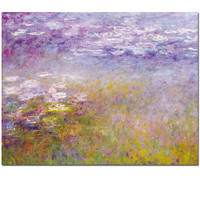 2017 Beautiful water lilies by Claude Monet reproduction paintings oil painting for bedroom wall decoration free shipping