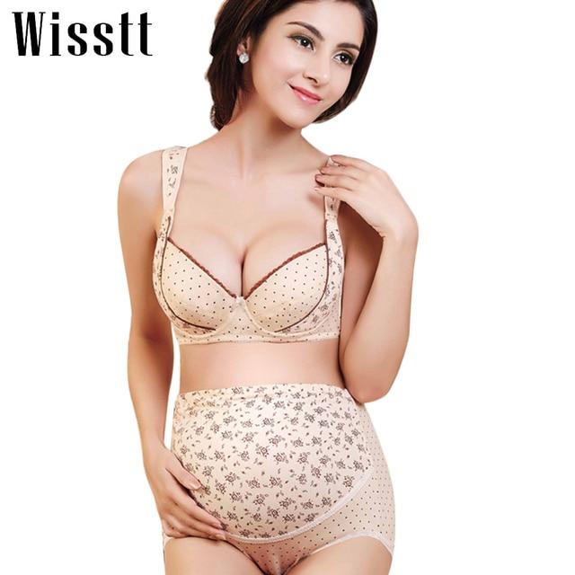4c3630761fdfe Wisstt New Plus Size Maternity push up Bra Sets Breastfeeding cotton  Adjustable Prevent sagging Nursing Bra