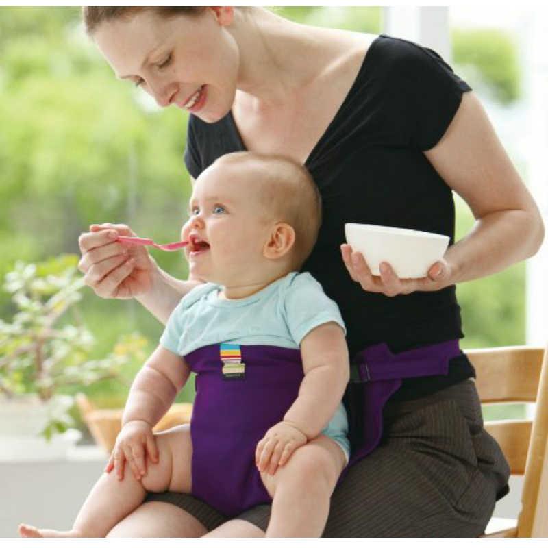 เด็ก Booster ที่นั่งยืดพับได้แบบพกพาความปลอดภัยเข็มขัด Dining อาหารกลางวัน Mon แฮนด์ฟรีให้อาหารเก้าอี้สูง