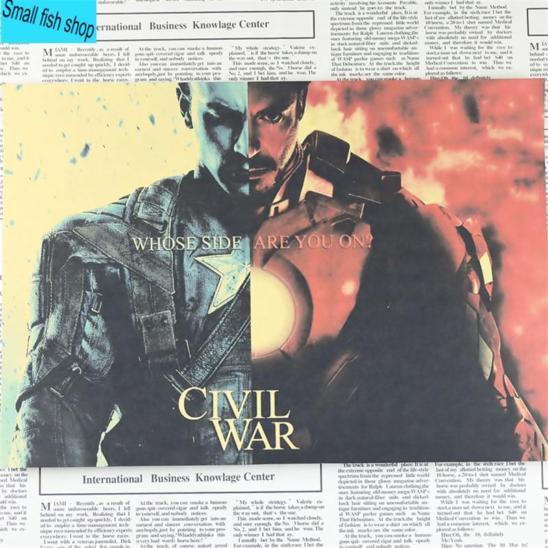 Капитан Америка Жинағы Iron Man spider man - Үйдің декоры - фото 5