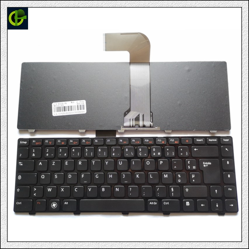 French Azerty <font><b>Keyboard</b></font> for <font><b>DELL</b></font> Inspiron 14R(<font><b>3520</b></font>)(5520)(7520) N4040 M421R 13Z(N311z) 14Z(N411Z)14VR M411R XPS 15 L502X X501L FR image