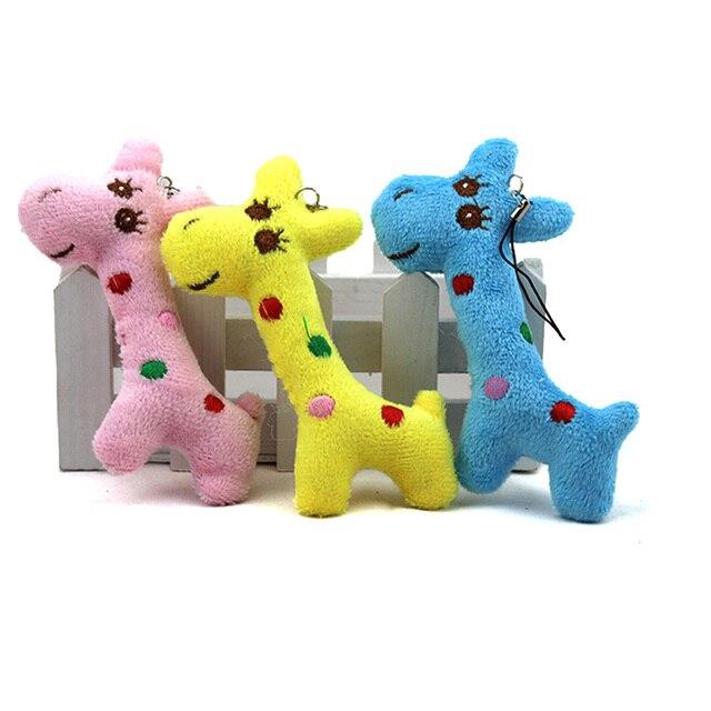 3pcs Lots Plush Doll Toy Mini Giraffe Key Chain For Kids Dolls