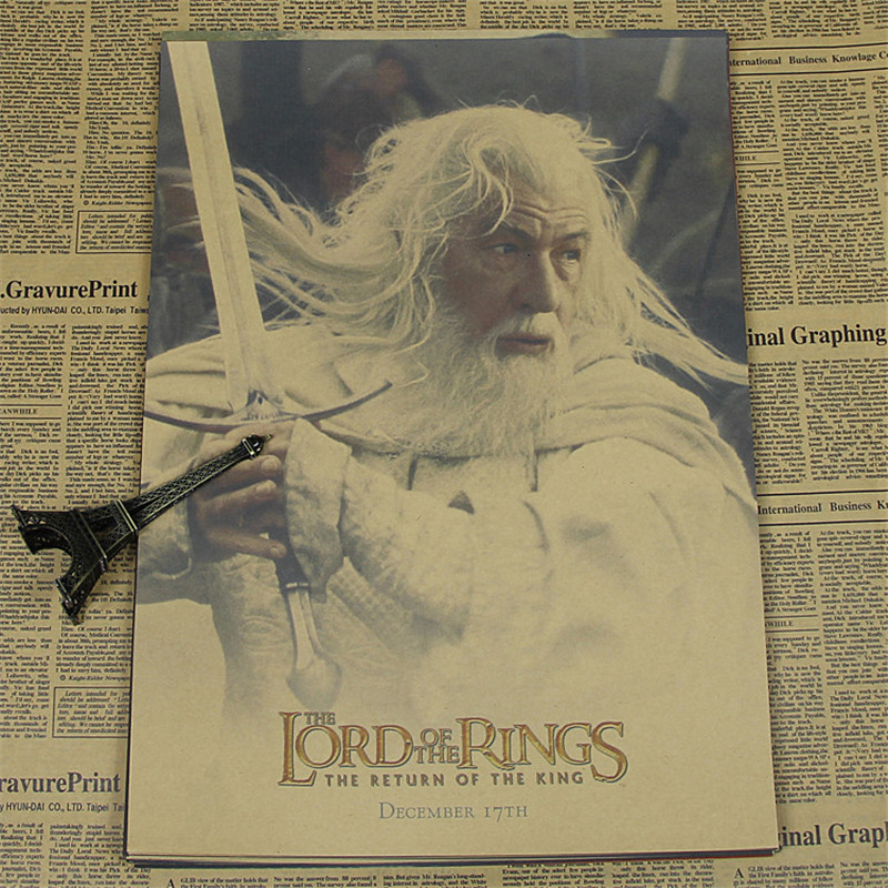 Aliexpress Buy Vintage Classic Old Kraft Paper Poster The Lord Of Rings  Wall Sticker Nostalgic Home