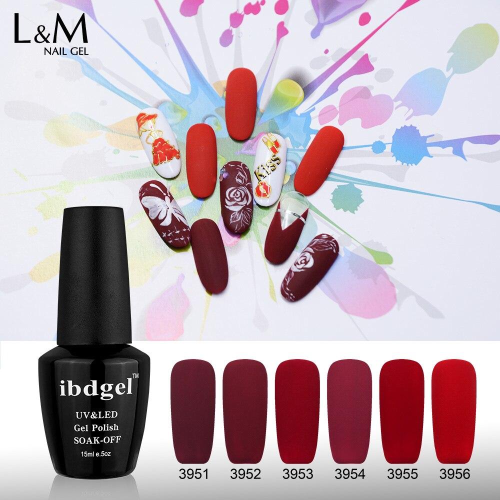 3 Bottle Red Velvet Gel Professional Uv Gelpolish Nail Art Manicure