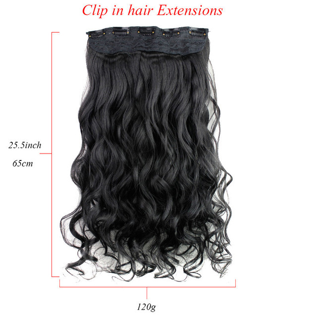 Good Clip In Hair Extensions Synthetic Kinky Curly Hair Curly