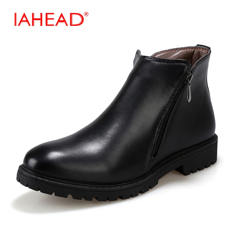 IAHEAD men boots  Men Chelsea Boots Men Leather Casual Boots Work Shoes Winter Shoes Men Martin Boots bota masculino MH566 iahead men boots men chelsea boots winter lace up flats casual shoes men leather ankle boots chaussure homme de marque mh598