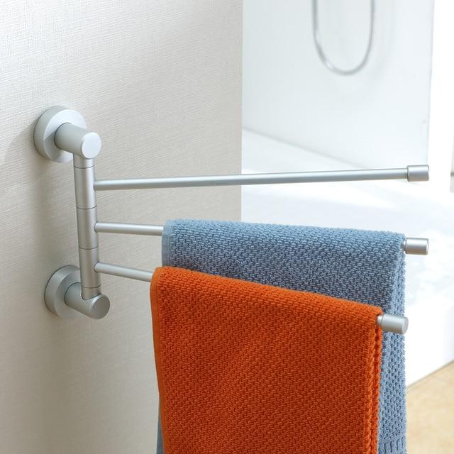 3 layer flexible 180 degree rotating swivel Towel rack bathroom shelf bathroom accessories Free shipping