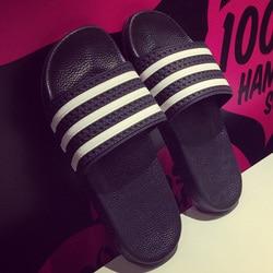 New Unisex New Fashion Men Shoes Summer Slippers Beach Men Slippers Women Casual Slippers Lovers Three Stripe Outdoor slipper