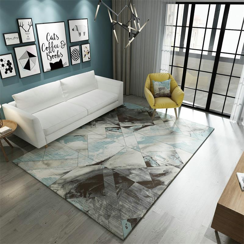 Us 36 33 50 Off Abstract Art Carpet Living Room Nordic Bedroom Home Decor Study Rug Sofa Coffee Table Floor Mat Geometric Rugs In