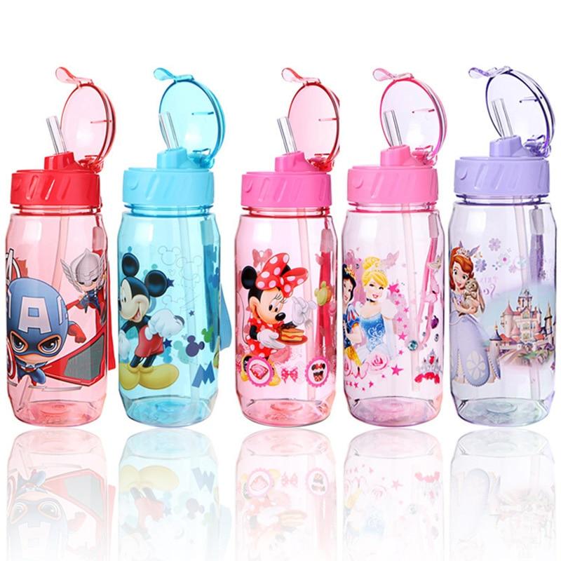 450ml Kids Feeding Cup Cartoon Cups Water Bottle Eco-friendly Baby Children Kettle Little Kid Boys Girls Protable Bottle