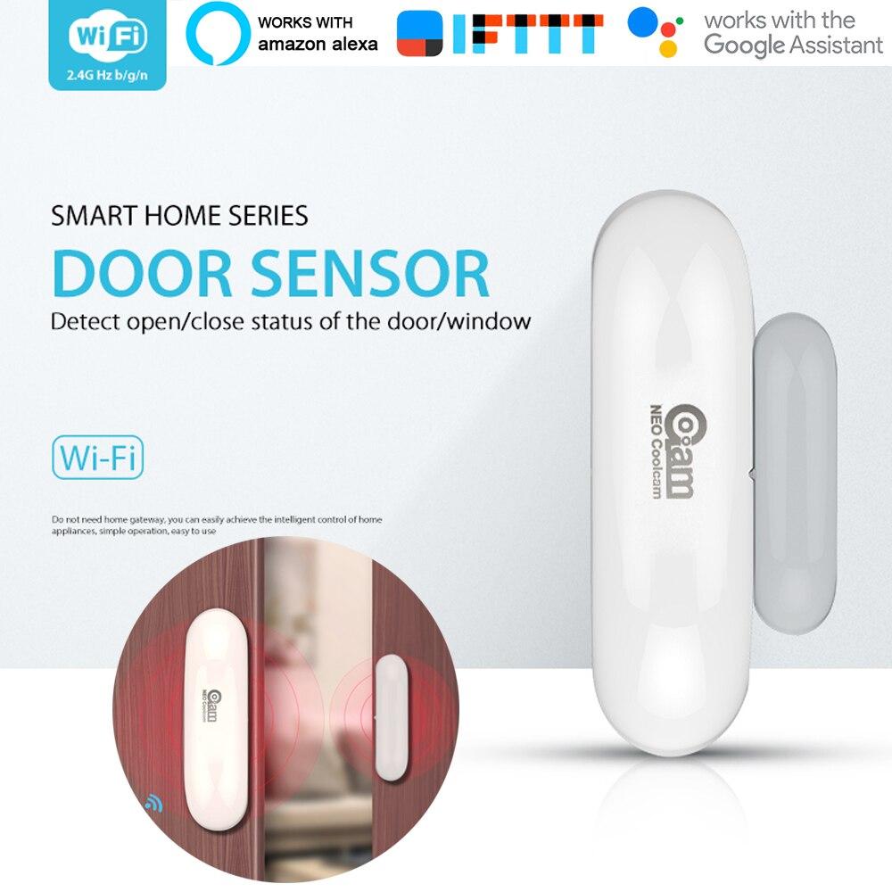 Image 2 - 1/2/3/4pcs/lots NEO COOLCAM WiFi Smart Door Sensor  Window Sensor App Notification Alerts Home Security Door/Window Detector-in Sensor & Detector from Security & Protection