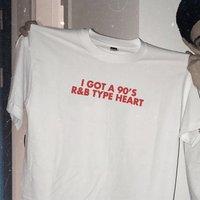 Sugarbaby/футболка в стиле «R & B» с рисунком сердца в стиле 90, модная футболка с короткими рукавами, Tumblr, одежда 90 дюймов, футболка с короткими рука...