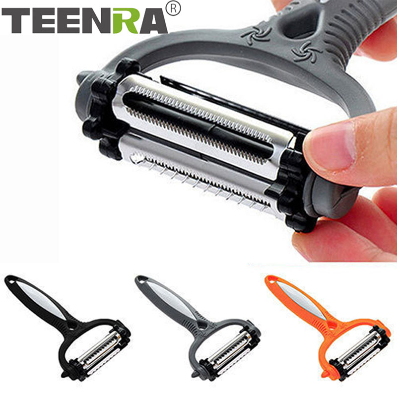 TEENRA Multifunctional 360 Degree Rotary Vegetable Peeler Cabbage Grater Potato Slicer Cutter Fruit Knife Kitchen Gadget 1