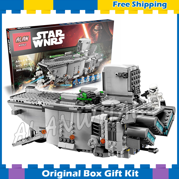 ФОТО 845pcs Bela 05003 New Star Wars First Order Transporter Building Sets Kits Compatible With Lego
