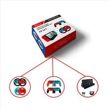 Набор контактов для тестирования 10 в 1 игра accesessory комплект для Nintendo Switch контроллер рулевого колеса ручки+ Тип usb-C кабель+ зарядная док-станция для игровые аксессуары