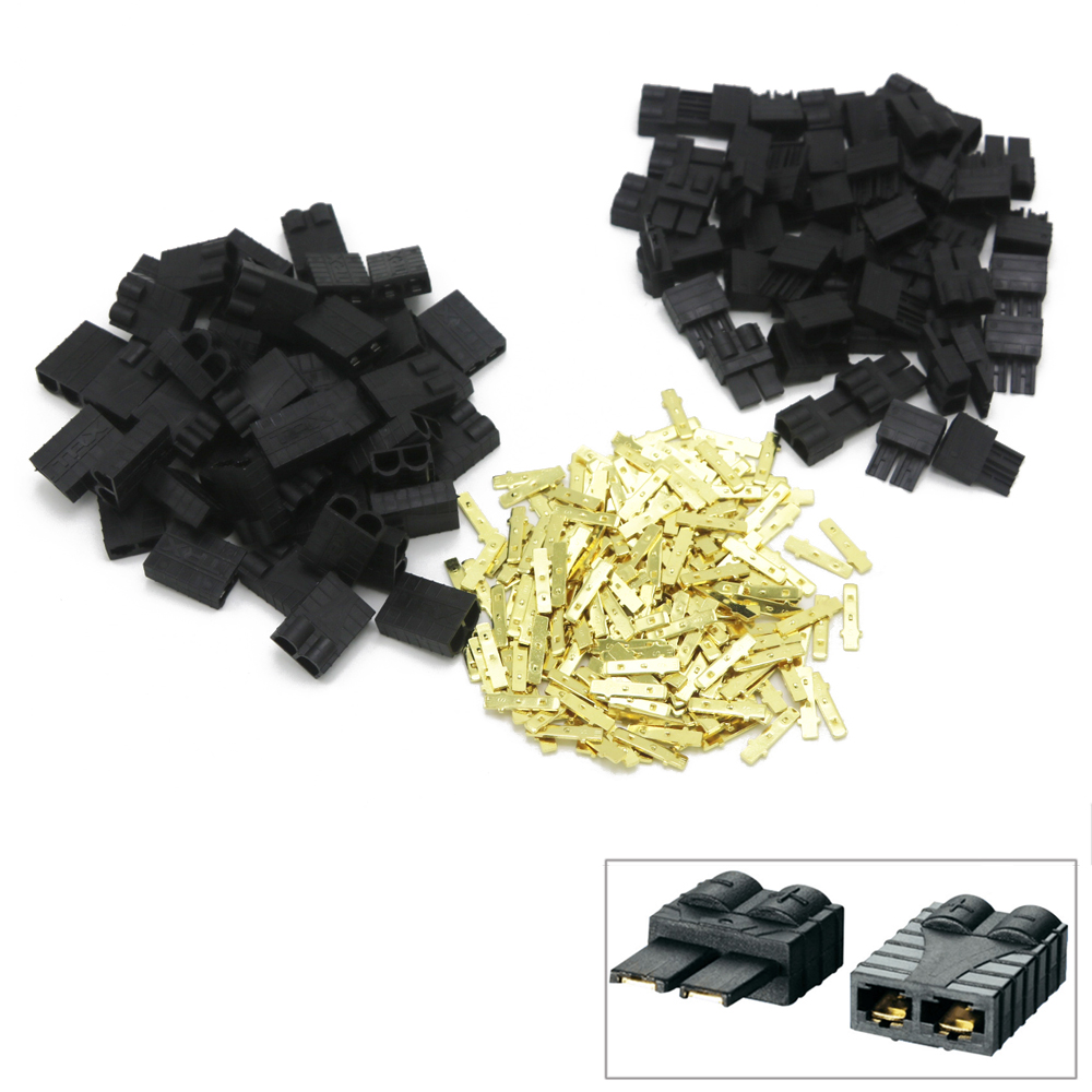 100 x TRX Connector TRX Plug for Lipo NiMh Brushless ESC Lipo Battery RC Connector Quadcopter