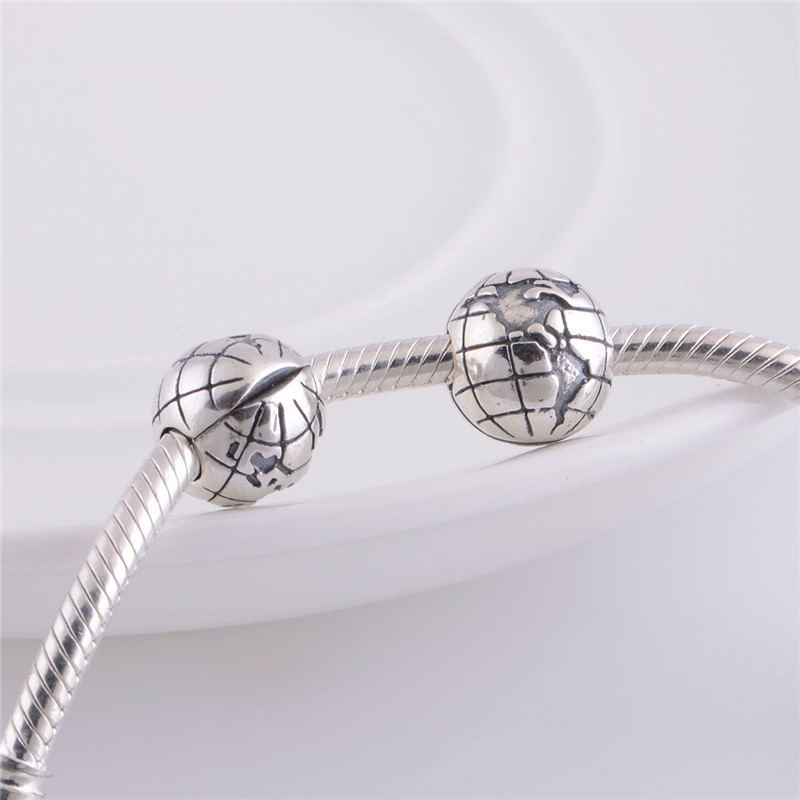 07337b84a ... Silver Pandora Globe Clip Charm 791182 Pandora Globe Clip ...