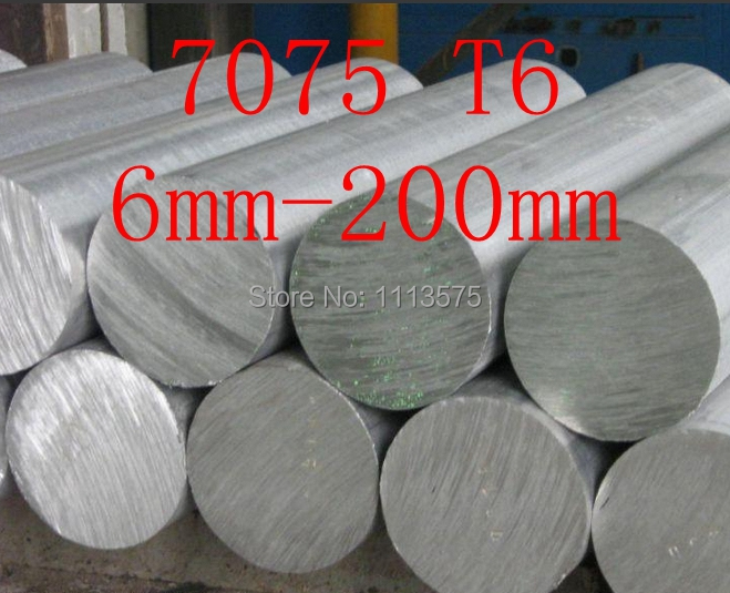 6-200mm 7075 T6 al aluminium solid round bar rod