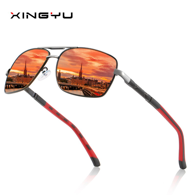 Mens Polarized Sunglasses Spring hinge Square sunglasses Driving glasses Fishing Dustproof Fashion sunglasse