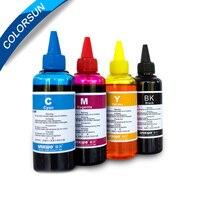 Nieuwe 4 kleuren (CMYK) Dye Inkt Gebruik voor Epson HP Canon Lexmark Inkjet Dye-Inkt op Promation prijs
